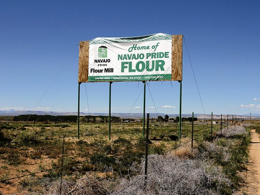 The Navajo Pride flour mill south of Farmington will close today.