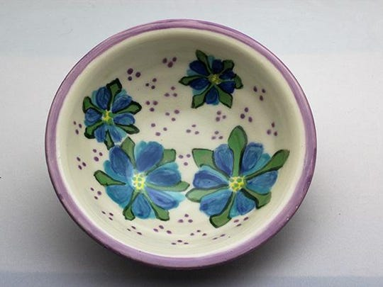 """Ceramic bowl by Mary Nelson, part of the """"Celebration"""""""