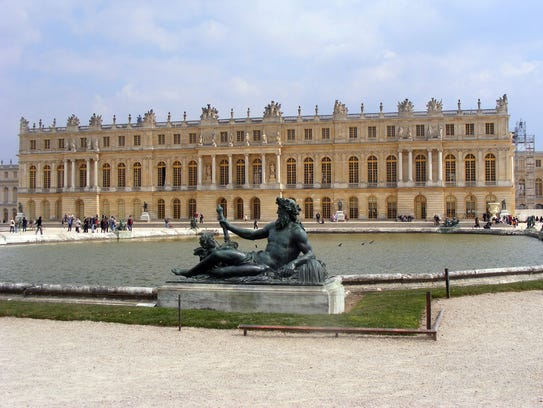The palace of Versailles, where French kings lived