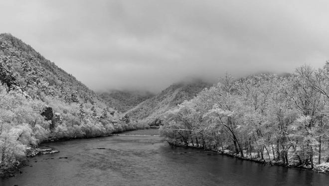 The French Broad is a very old river, but it's hard to know for sure if it's one of the three oldest in the world. In this photo, local photographer Steve Tweed captured the banks of the French Broad after a winter snowfall.