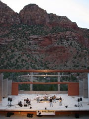 Concerts at the Tanner Amphitheater, beneath the cliffs