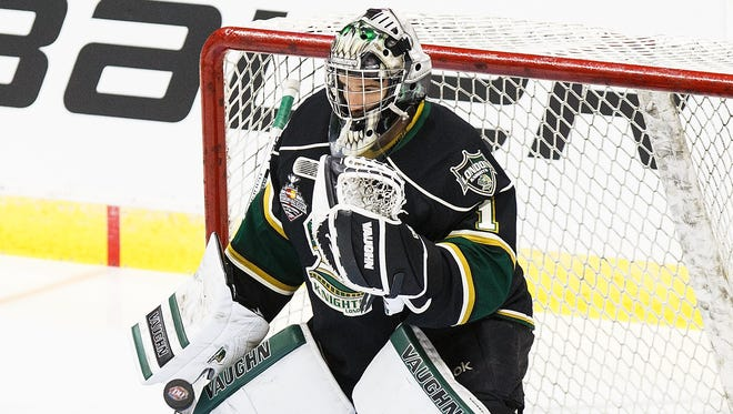 Tyler Parsons (London Knights, OHL) had a 2.33 goals-against average and .921 save percentage this past season.