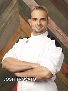 Josh Trovato hopes to go all the way to the black chef's coat on 'Hell's Kitchen'