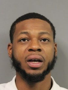 Jordan Powell was charged with drug possession after shots were fired at a Dover apartment.