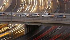 Traffic on Interstate 10 in Phoenix, Ariz.
