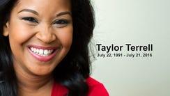 Taylor Terrell, 24, died at Rainbow Falls Thursday,