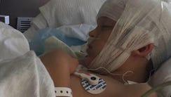 Wyatt Shaw slept for 11 days inside a children's hospital.