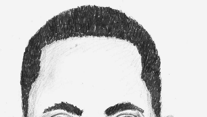 Sketch of suspect involved in Amity incident.