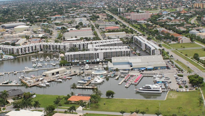 Rose Marina as viewed from the air.