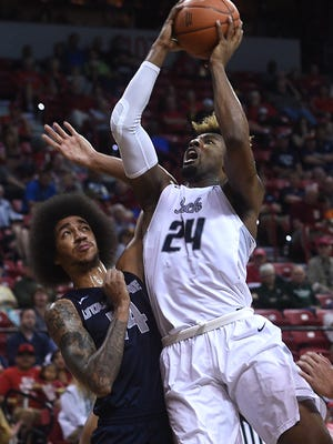 Foul trouble earned Jordan Caroline a little extra rest heading into Friday's Mountain West Tournament semifinal.