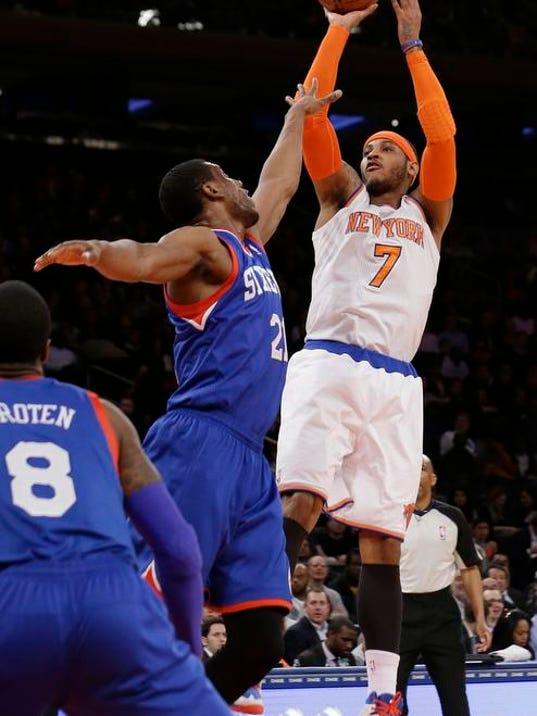 76ers Knicks Basketball (2)