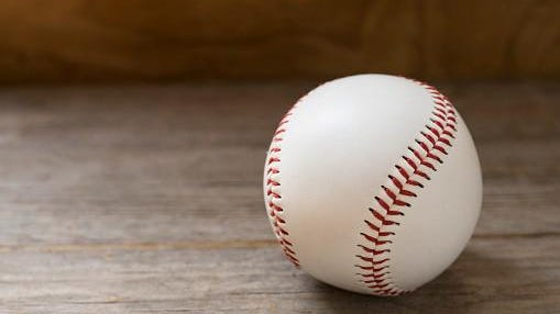 baseball on old brown and vintage table background