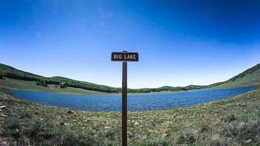 Small reservoir named Big Lake.