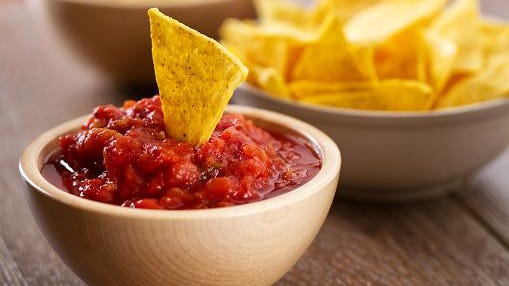 Nacho Chips with Salsa