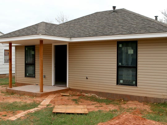 "While not her ""mansion in Heaven,"" several off-duty Wichita Falls police officers hope the house they've help get built for Maxine will help her live a more comfortable life."