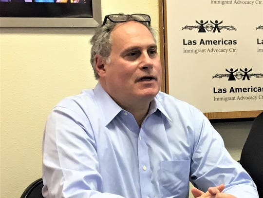 ACLU attorney Lee Gelernt speaks at an El Paso news