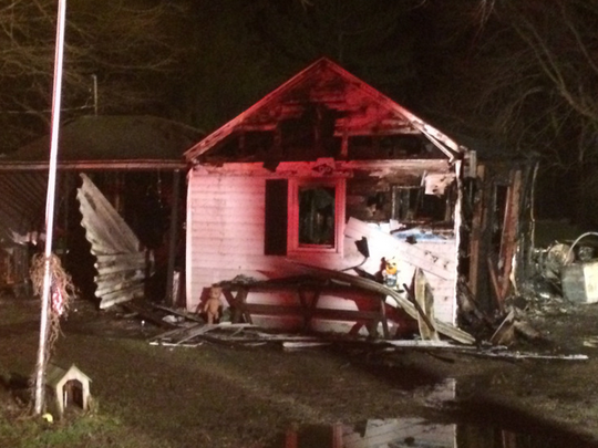 Fire broke out in this New Castle house on Wednesday killing two,