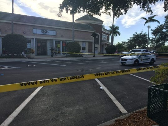 One of the crime scenes at Gulf Coast Town Center.