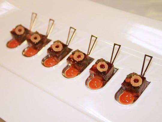 Corey Siegel's example of cold food precision in the Culinary World Cup.