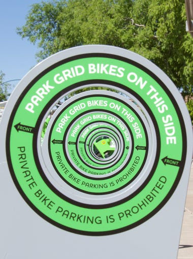 Downtown Mesa is home to 12 new Grid Bike stations, adding 100 new bicycles open for public use as part of a valley-wide bike-share program.