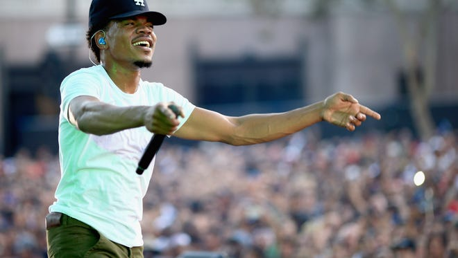Chance The Rapper performs at the 2014 Budweiser Made in America Festival in Los Angeles, California.