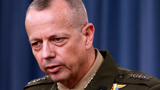 Marine Gen. John Allen, shown in 2012, was the top U.S. commander in Afghanistan.
