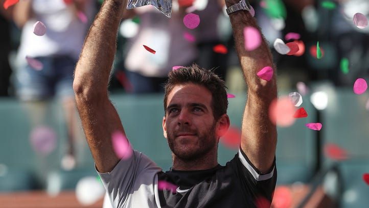 Juan Martin del Potro, who once considered retirement, defeats Roger Federer in epic Indian Wells final