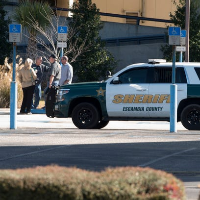 A bomb threat was made against the Pensacola Bay Center