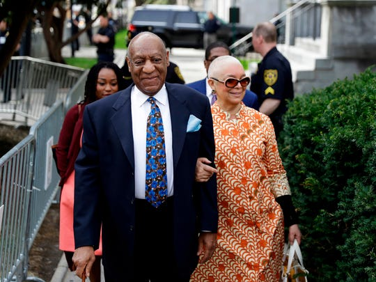 Bill Cosby and wife Camille Cosby arrive at Montgomery
