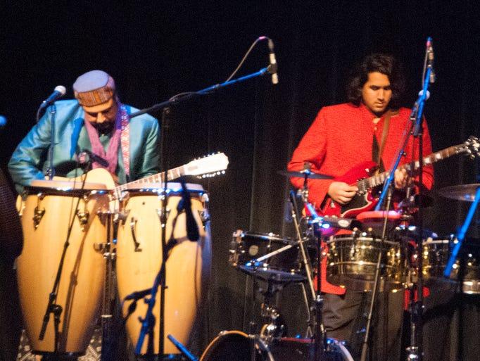 Pakistani guitarist Salman Ahmad and his band perform