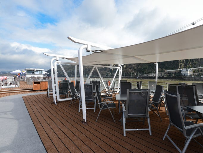 Sheltered seating is available on the sun deck of Viking