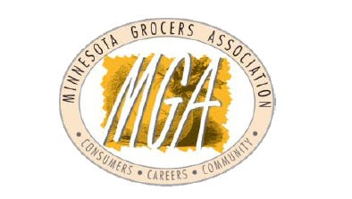 The Minnesota Grocers Association logo.