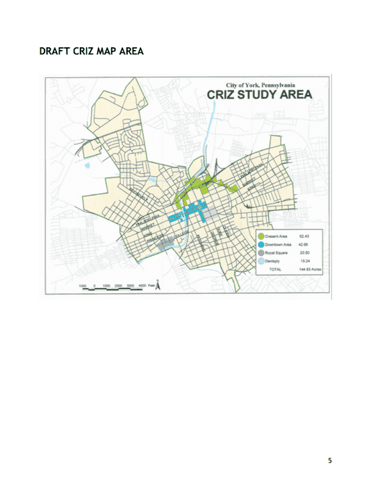 This map shows tentative areas of designation for the City Revitalization and Improvement Program.