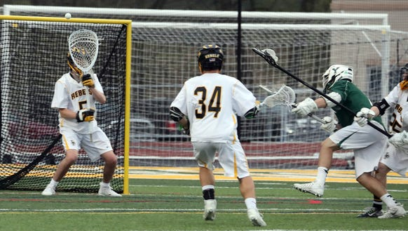 Yorktown's Richie Giannasca scores on Lakeland-Panas