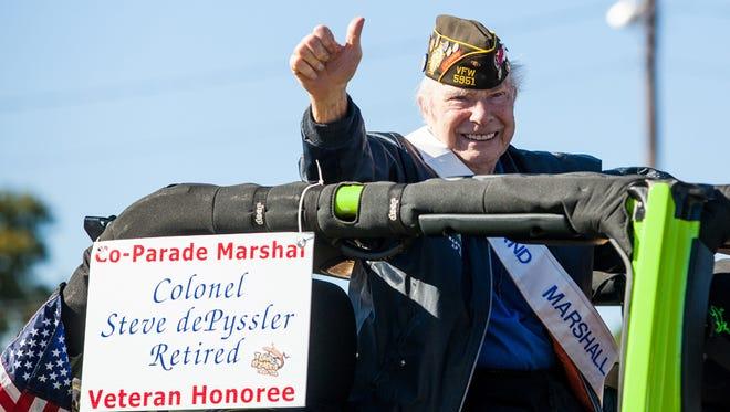 Last year's co parade marshal, Colonel Steve dePyssler.
