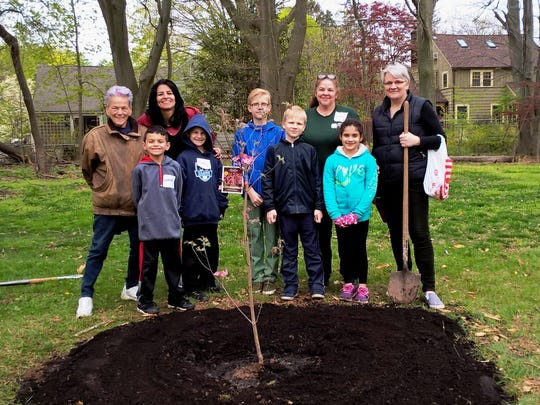 Members of the Union County 4-H Variety Club display the dogwood sapling they planted at the County's Cedar Brook Park in Plainfield last month to mark Arbor Day 2017. In all, two dozen 4-H students took part in the event. They planted 5 new trees and spread protective mulch around others. The trees were provided by the Freeholder Board and County personnel assisted in digging the holes. Union County 4-H is a program of the Rutgers Cooperative Extension of Union County and is supported in part by the Freeholder Board. For more information contact 4-H Agent James Nichnadowicz at jnichnadowicz@ucnj.org or 908-654-9854 ext. 3, or visit online at ucnj.org/rce.
