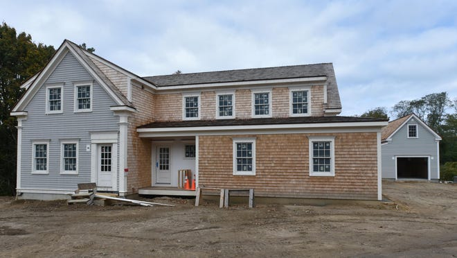 A new home under construction at 4224 Route 6A in Cummaquid. Realtors on the Cape reported a record month for home and condominium sales in September.