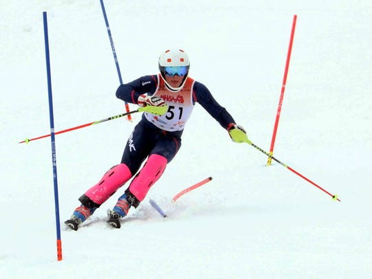 Lakeland's James Wenzloff was first in the slalom and
