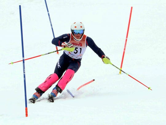 Lakeland's James Wenzloff was first in the slalom and giant slalom at Alpine Valley regional.