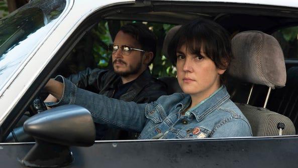 Melanie Lynskey, right, and Elijah Wood star in 'I