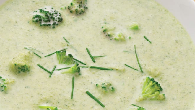 Chilled Cream of Broccoli soup.