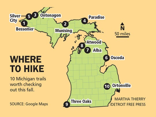 10 Michigan trails worth checking out this fall