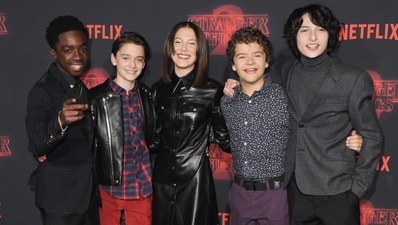 The 'Stranger Things' kids celebrated. Caleb McLaughlin,