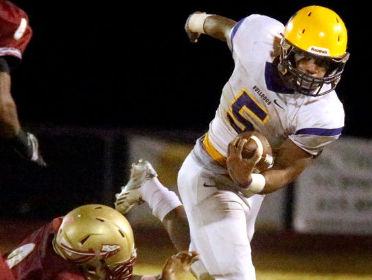 Smyrna's Casey Perkins led the Bulldogs in rushing
