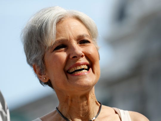 Dr. Jill Stein, Green Party presidential nominee, arrives at a rally July 27, 2016, in Philadelphia.