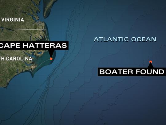 Coast Guard locates boater offshore