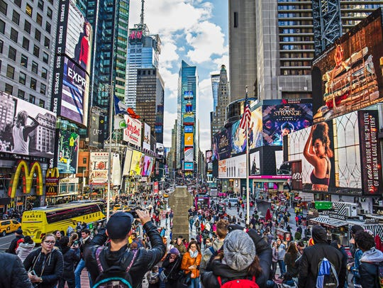 Times Square: Free. Visitors per year: 50 million.