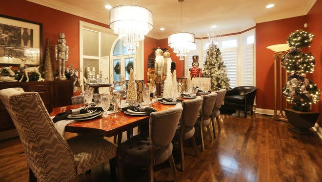 A view of the dining room table in the Presley/Bell home. Nov. 16, 2015.