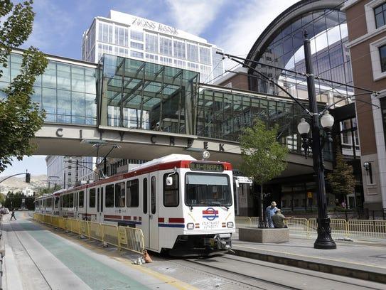 Utah ranked No. 13 for its public transit usage.