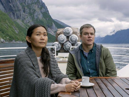 Hong Chau plays Ngoc Lan Tran and Matt Damon plays